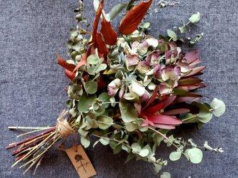 ''アンティーク紫陽花とユーカリ2種の大人シックスワッグ''の画像