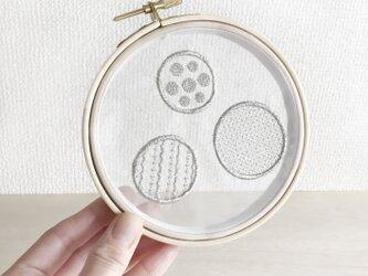 【一点物】オーガンジードット刺繍パネルの画像