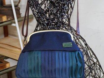 『tさまオーダー品』倉敷帆布バルーンバッグ20ブルーグリーン  No.2003の画像