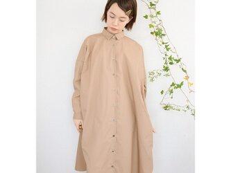 ◇タイプライター long shirts onepiece_beigeの画像