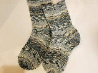 No.245 送料込手編み靴下の画像