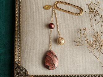 天然石とパールの帯飾り《ジャスパー/A》【送料無料】の画像