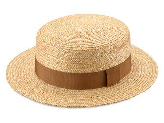 Marin/G マラン/ジー 麦わら ストローハット 婦人用 カンカン帽 ベージュ 57.5cm [UK-H026-BE-M]の画像