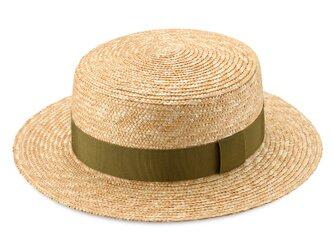 Marin/G マラン/ジー 麦わら ストローハット 婦人用 カンカン帽 カーキ 57.5cm [UK-H026-KH-M]の画像