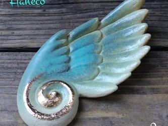 薄緑色の大きな翼 お香立て no.2の画像