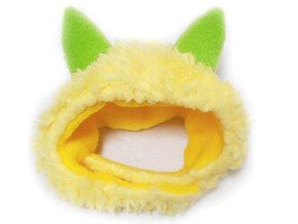 犬猫用コスプレ 黄鬼のかぶりもの(帽子)の画像