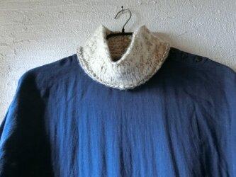 *ミックス毛糸ネックウォーマー スラブ糸の画像