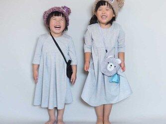 【受注制作】子ども用◇アーミッシュ風シンプルワンピース(好きな布地を選べます)の画像