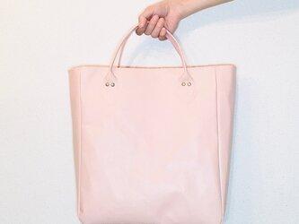 豚革 ピンク 1970's キャリーオールバック トートバッグの画像