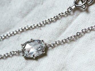 オーバルローズカットダイヤモンドブレスレットの画像