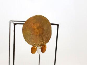 Bowl ピアス (brown)の画像