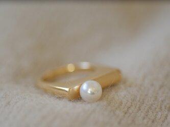 <受注オーダー>one (volume ring pearl)の画像