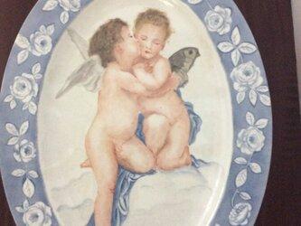 天使の絵皿の画像