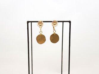 gold & silver mini イヤリングの画像