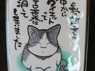 可愛い動物イラストにオモシロ文言入り色紙(小)の画像