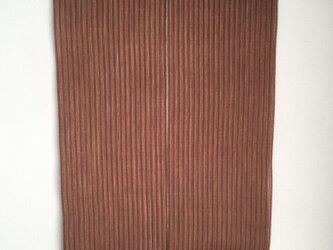 柿渋染め 手織り暖簾(短) NR02の画像