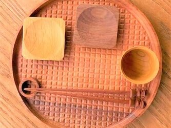 【人気】ラウンド トレイ - 格子 -  ko-shi round tray 0014 ニヤトーの画像