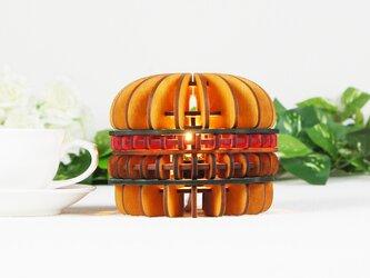 「ハンバーガー」木製フロアランプの画像