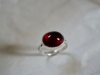 ガーネット 赤い果実のシルバーリング / Red Berry with Silver Ringの画像