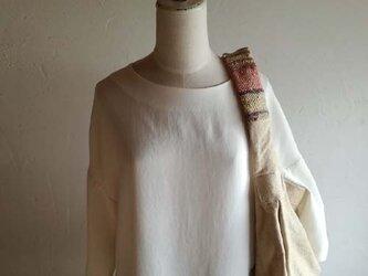 草木染めショルダーバッグ 『色を織る』の画像