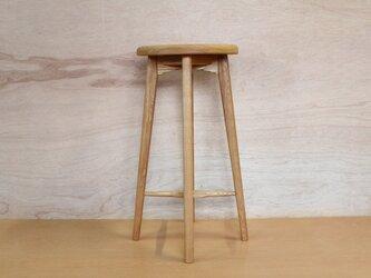 キッチンスツールA・タモ材の画像