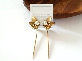 pierce /// stick cotton pearl botanical flowerの画像