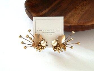 pierce /// wire cotton pearl botanical flowerの画像