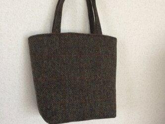 ツイードのミニトートバッグの画像