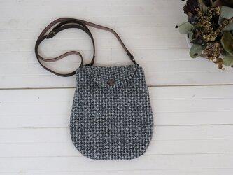 ヴィンテージウールのミニバッグ(グレーチェック ツイード)の画像