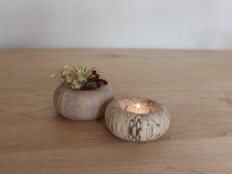 ≪白樺≫ キャンドルホルダー 小 ①の画像
