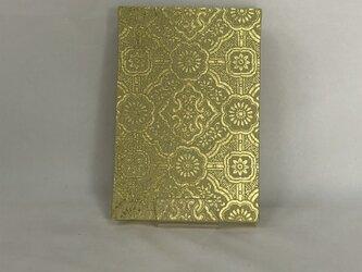 綴織金彩 御朱印帳(特大) 華紋 鶯地に金の画像