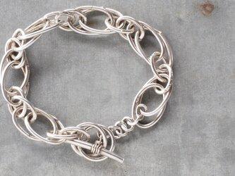 シルバーチェーンブレスレット-spiralの画像