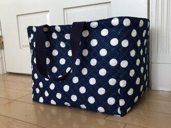 トートバッグ四角型 ペットキャリーバッグ(ネイビーの画像