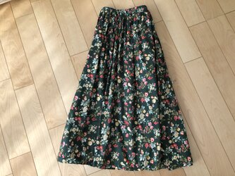【大SALE】ボタニカルスカート(グリーン)の画像