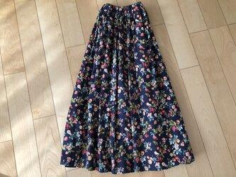 【大SALE】ボタニカルスカート(ネイビー)の画像