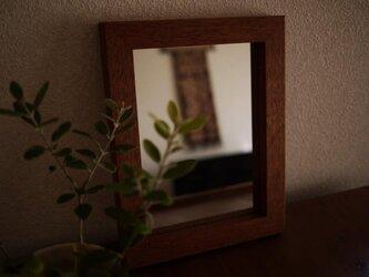 wood frame mirror [ウッドフレームミラー]の画像