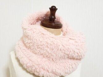 ♡ふんわりもこもこ♡プードルボアのスヌード♡ピンクの画像