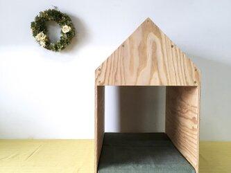 インテリアになる犬小屋 ドッグハウス  ペットハウス 木製 ナチュラル 室内用の画像