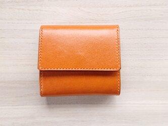 *受注生産* 三つ折り財布 #2‐2 カード増設タイプ 栃木レザー(ピアノレザー)キャメル&ピッグスエード ベージュの画像