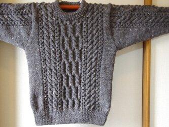 アランセーター 手編みセーター アラン模様 セーターの画像