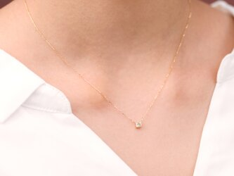 """One of a Kind"" Princess Cut Diamond Necklace 0.134ctの画像"