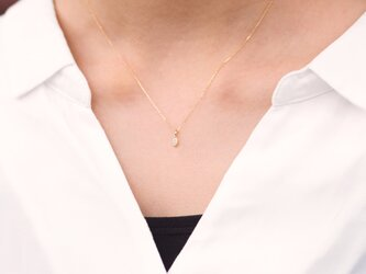 """""""One of a Kind"""" Marquise Cut Diamond Necklace 0.120ctの画像"""