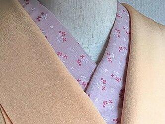 洗える半襟 桃色小花の画像