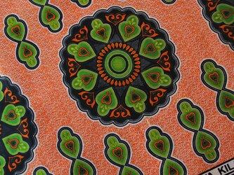 アフリカ布『カンガ』ルージュ・オレンジ ペンタクルの画像