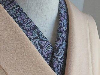 洗える半襟 紫色ペイズリーの画像