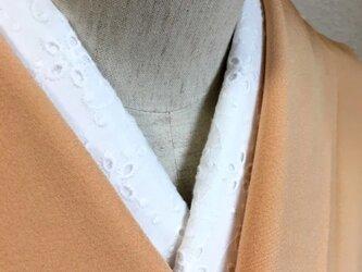 洗える半襟 お花綿レースの画像