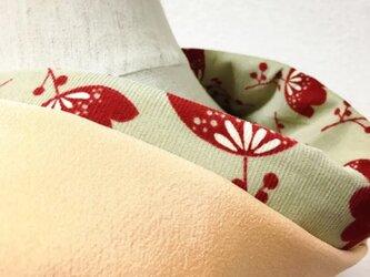 冬素材の半衿 はんなりお花 えんじの画像