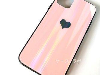 iphone11*スマホケース ミラーハートピンク iPhoneケース iPhoneXR iPhone11pro iPhoneの画像