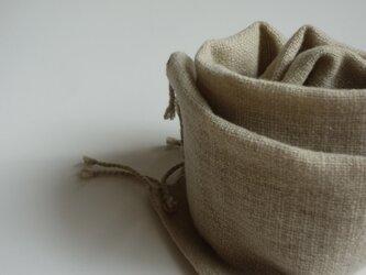 手織りウールマフラー・・緑茶の画像