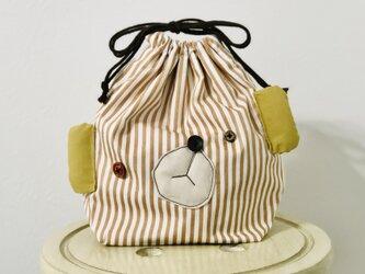 おとぼけクマのお弁当袋の画像